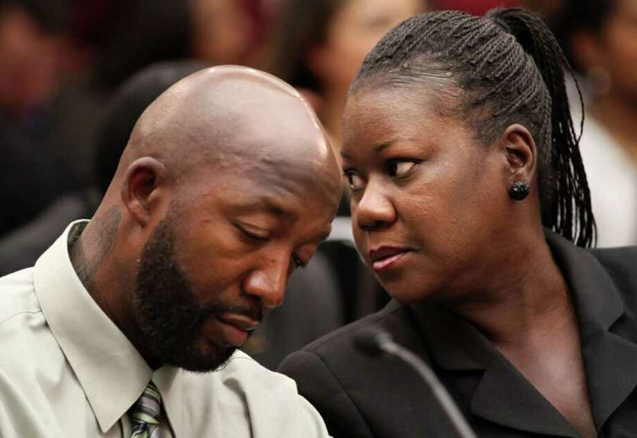 April 5, 2013 –Trayvon Martin's parents settle a wrongful death claim against the homeowners association where Trayvon was fatally shot. Photo: Jacquelyn Martin / Copyright 2012 The Associated Press. All rights reserved. This material may not be published, broadcast, rewritten or redistribu