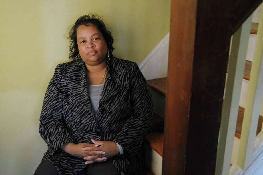 Vivian Kornegay poses on the stairs inside her home on Wednesday, March 28, 2012 in Albany, N.Y. (Paul Buckowski / Times Union) Photo: Paul Buckowski
