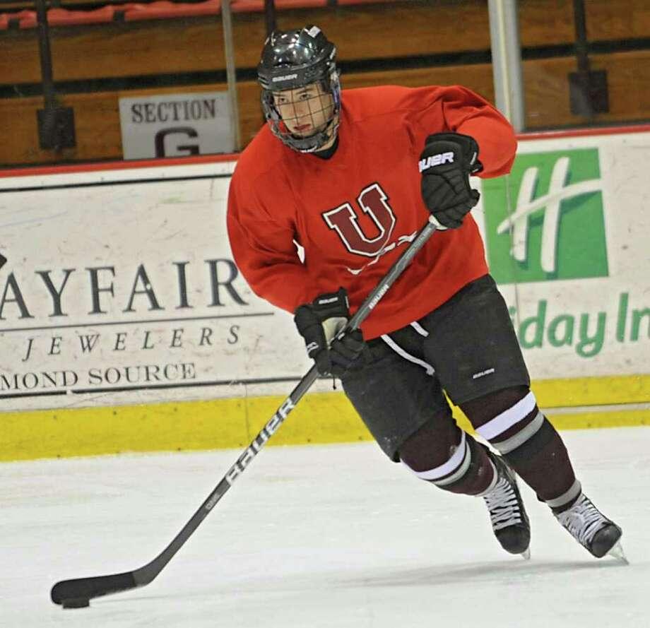 Union hockey forward Josh Jooris during practice Wednesday March 28, 2012 in Schenectady, N.Y. (Lori Van Buren / Times Union) Photo: Lori Van Buren