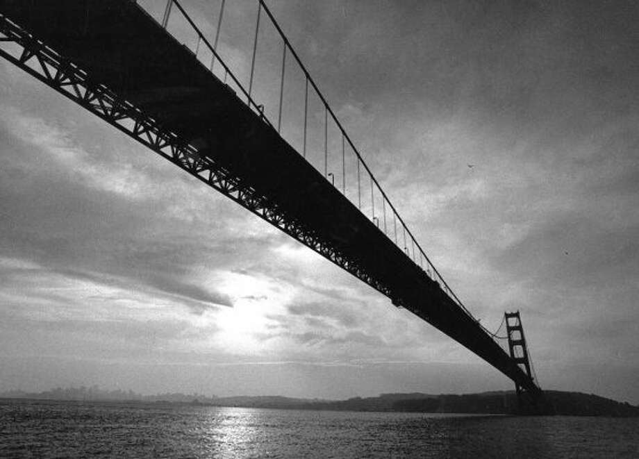 Dec. 18, 1988: A view underneath the Golden Gate Bridge, where I've always thought the bridge is the most visually impressive. Deanne shot this in a boat. (Deanne Fitzmaurice / The Chronicle)