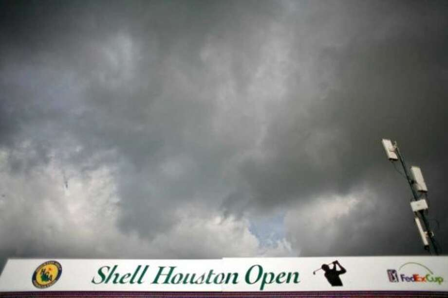 Cloud cover and a cool breeze makes for a good day to watch the Shell Houston Open's Grand Pro-Am, Tuesday, March 27, 2012, at the Redstone Golf Club in Humble. (Nick De La Torre / Houston Chronicle)