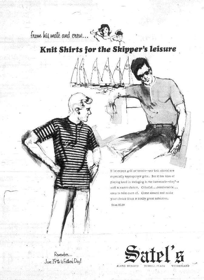 Still in business today, Satel's men's clothing store was ready with Father's Day gift ideas in 1966.
