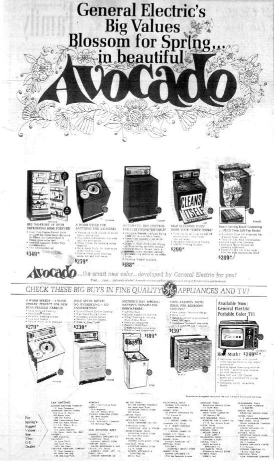 """What the ad doesn't say is anything about how quickly avocado-colored appliances would """"age."""""""