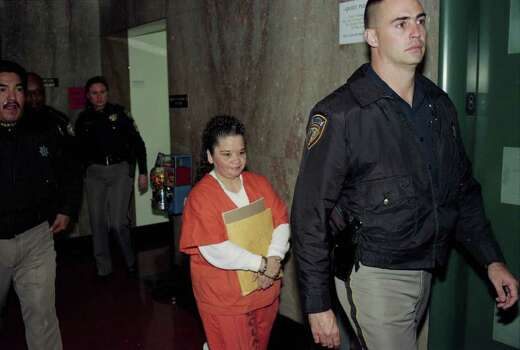 Yolanda Saldivar returned to a Houston courtroom in January 1997 as her attorneys tried to pin down who might have lost, misplaced or destroyed a carton of records she needs to appeal her conviction in the murder of Tejano singer Selena Quintanilla Perez.  Photo: Steve Ueckert, Houston Chronicle / Houston Chronicle