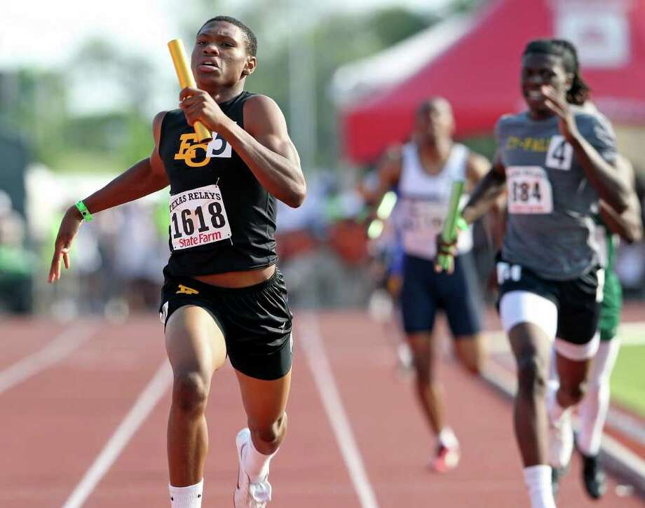 Chris Armstrong and the East Central Hornets are looking for a second consecutive 1,600-meter relay title at Texas Relays..    Tom Reel/Express-News Photo: TOM REEL, SAN ANTONIO EXPRESS-NEWS / © 2011 San Antonio Express-News