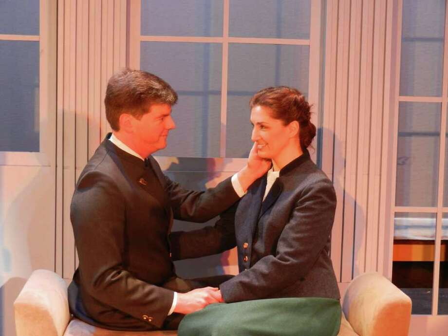 "Jonathan Jacobson is the captain and Laura Blackwell is playing Maria in the production of ""The Sound of Music"" being presented by Stamford's Curtain Call March 30 to May 5. Photo: Contributed Photo"