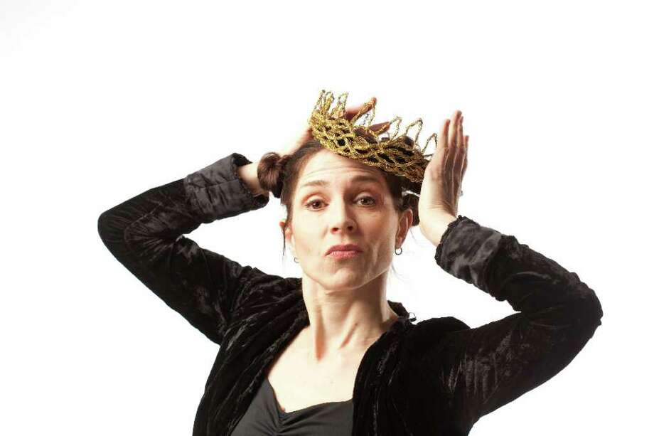 "Susanna Hamnett is bringing her one woman all-ages Shakespeare show - ""Nearly Lear"" - to Westport Country Playhouse on Sunday, April 1. Photo: Contributed Photo"