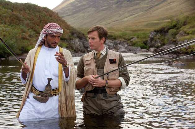 """Best picture, comedy or musical nominee:""""Salmon Fishing in Yemen"""" Photo: Laurie Sparham / © 2011 Yemen Distributions Limited."""