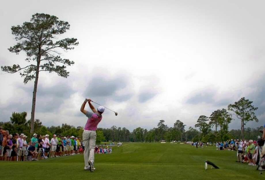 March 29 Charl Schwartzel tees off at the third hole during the first round of the Shell Houston Open, Thursday, March 29, 2012, at the Redstone Golf Club in Humble. (Nick de la Torre / Houston Chronicle)