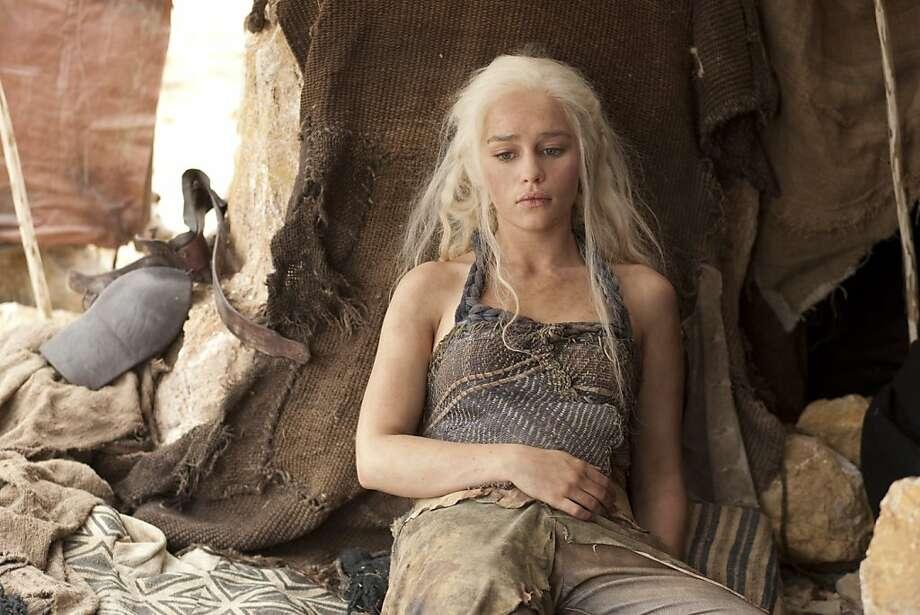 GAME OF THRONES episode 13 (season 2, episode 3): Emilia Clarke. Photo: Paul Schiraldi, HBO