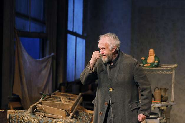 "Jonathan Pryce in the dress rehearsal for SHN presentation of Harold Pinter's ""The Caretaker"" at the Curran Theatre in San Francisco, Calif., on Tuesday, March 27, 2012. Photo: Carlos Avila Gonzalez, The Chronicle"