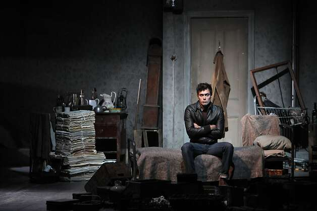 "Alex Hassell in the dress rehearsal for SHN presentation of Harold Pinter's ""The Caretaker"" at the Curran Theatre in San Francisco, Calif., on Tuesday, March 27, 2012. Photo: Carlos Avila Gonzalez, The Chronicle"