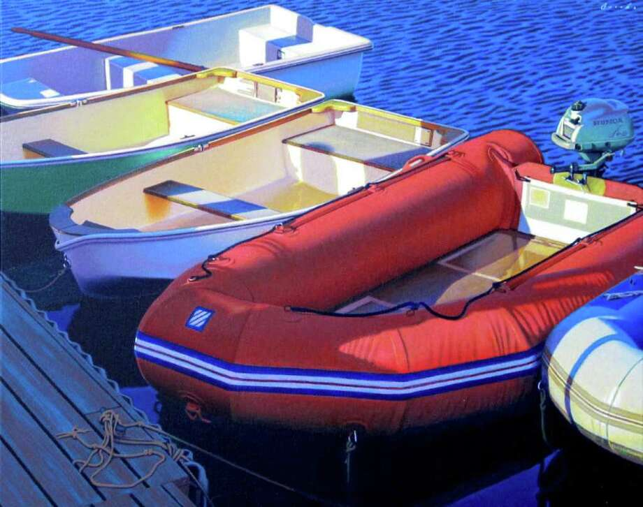 """""""Big Dinghies,"""" by Rob Brooks, will be included in his solo exhibit at Southport Galleries. Photo: Contributed Photo"""