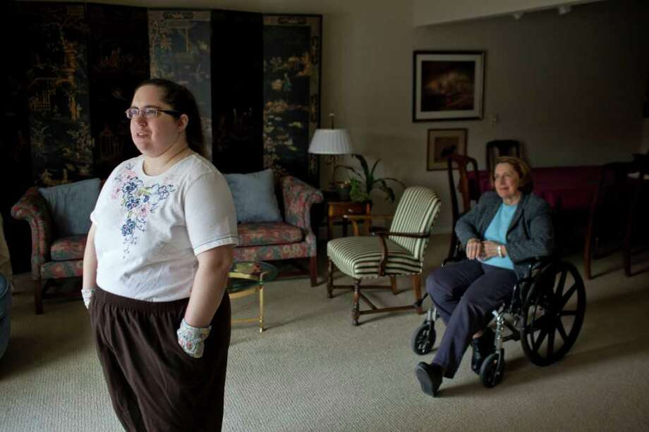 Mary Meyer (right) of Ramsey, N.J., says a diagnosis of Asperger syndrome was crucial in getting her daughter, Susan, 37, (left) access to services that have helped her. Photo: Todd Heisler, New York Times / NYTNS