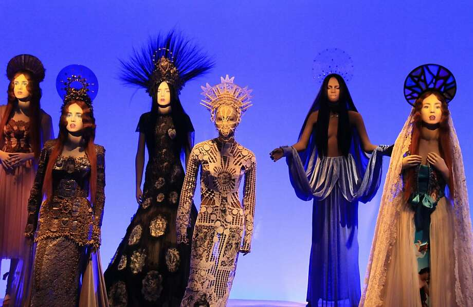 """Jean Paul Gaultier's incredible creations receive multimedia treatment in """"The Fashion World of Jean Paul Gaultier: From the Sidewalk to the Catwalk"""" at the de Young Museum. Photo: Andrew Fox/ FAMSF"""