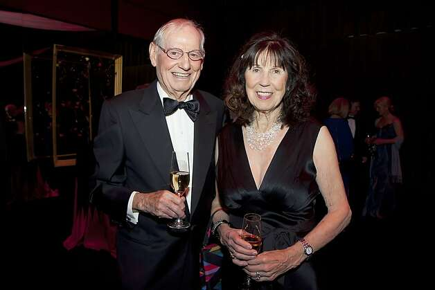 Artist Wayne Thiebaud and his wife, Betty Jean Thiebaud, at the Mondavi Gala. Photo: Tia Gemmell