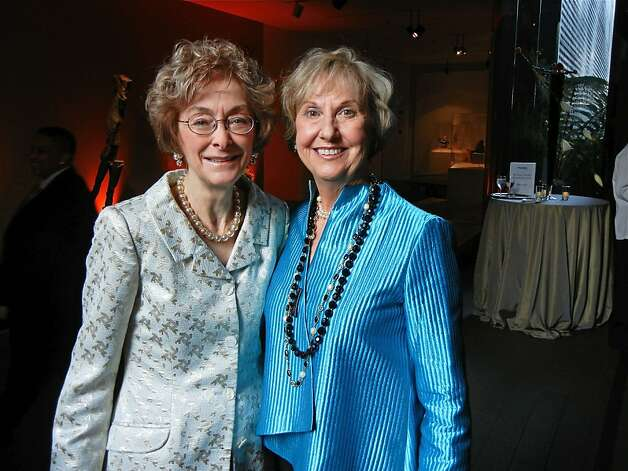 Bouqets to Art co-chairwomen Barbara Wanvig (left) and Judith Heuser at the de Young Museum. March 2012. By Catherine Bigelow. Photo: Catherine Bigelow, Special To The Chronicle
