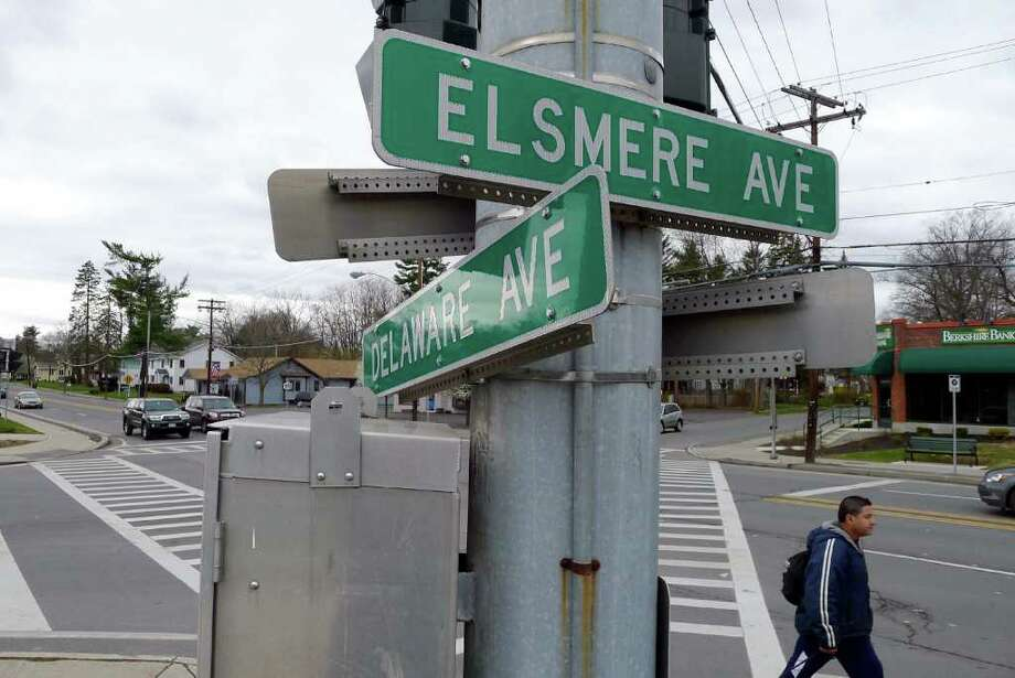 The corner of  Delaware and Elsmere avenues in Delmar N.Y., Thursday March 29, 2012. (Michael P. Farrell/Times Union) Photo: Michael P. Farrell / 00017029A