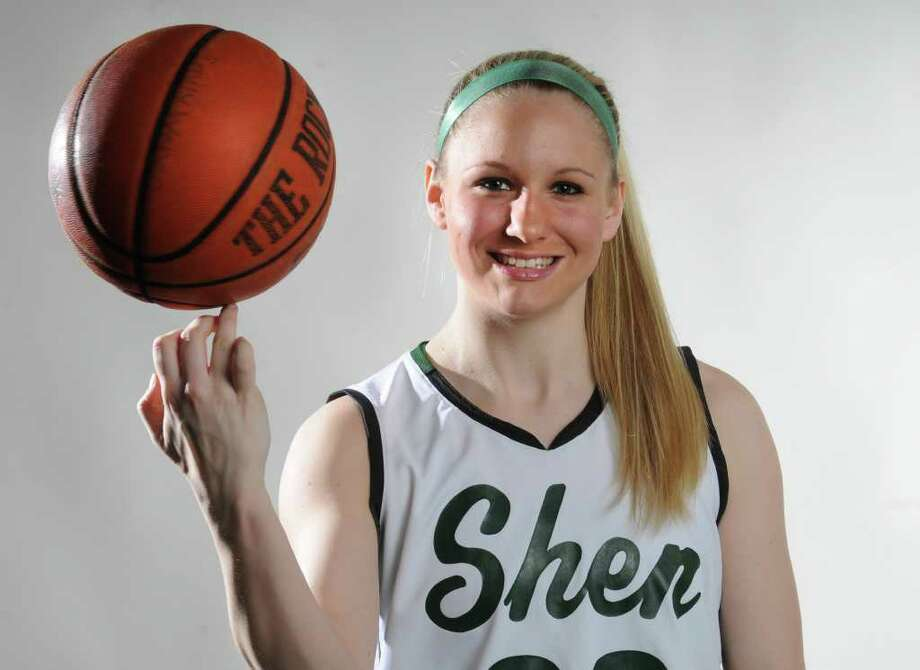 Basketball all-star Emily Weber of Shenendehowa March 21, 2012 in Colonie, N.Y.  (Lori Van Buren / Times Union) Photo: Lori Van Buren