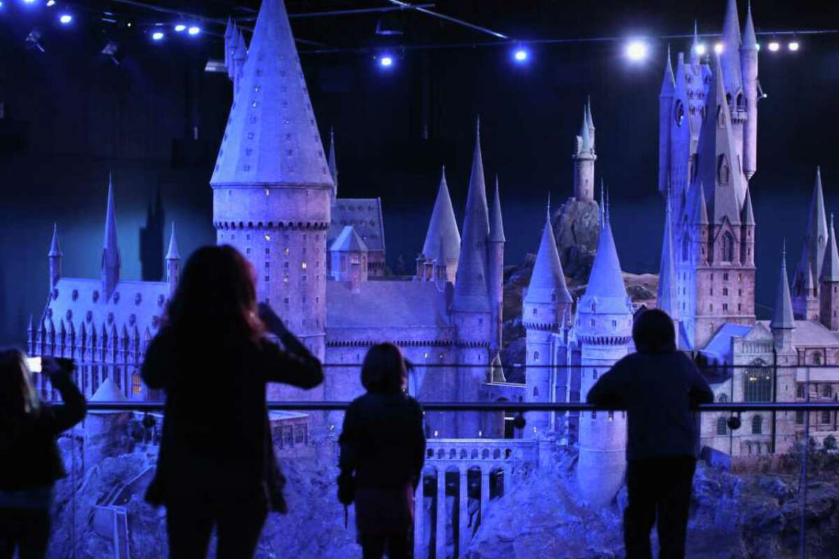 Visitors walk around a model of 'Hogwarts Castle' at the Harry Potter Studio Tour at Warner Brothers Leavesden Studios on March 23, 2012 in London, England. The studio, which includes the actual sets and special effects departments where the films were created and shot, goes on public display on March 31, 2012. Read more...