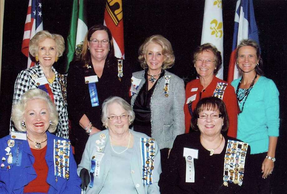 Pictured from left are: (front row) Pat Spackey, Dottie Wainwright and visiting conference guest Susan Montgomery; (back row) Pat Williams, Ann Jones, Kandy Davis, Beverly Pritchard and Heather Moody.