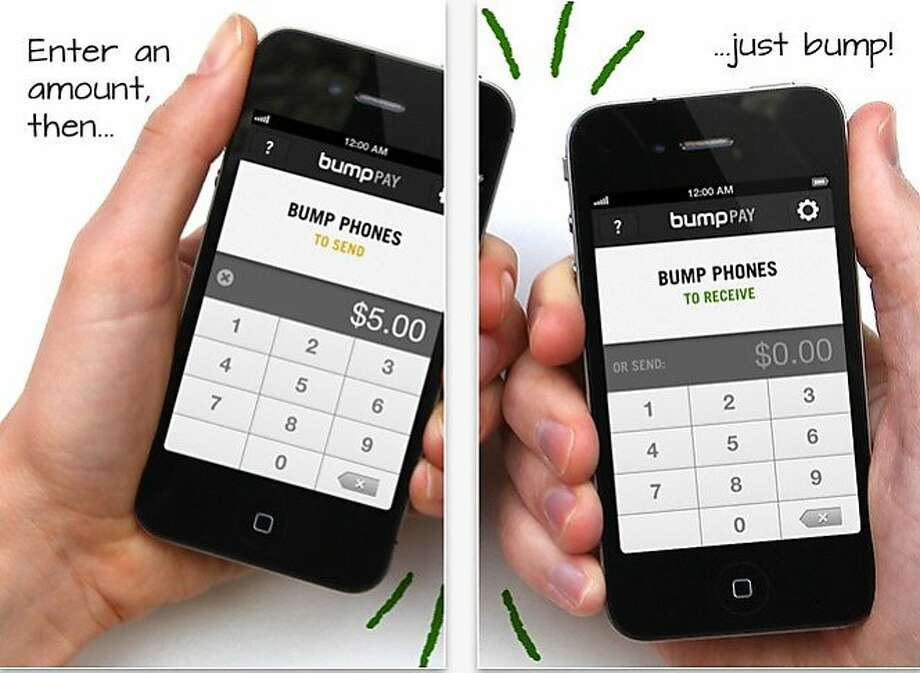 Bump Pay: tap of Apple devices transfers funds Photo: Bump Pay