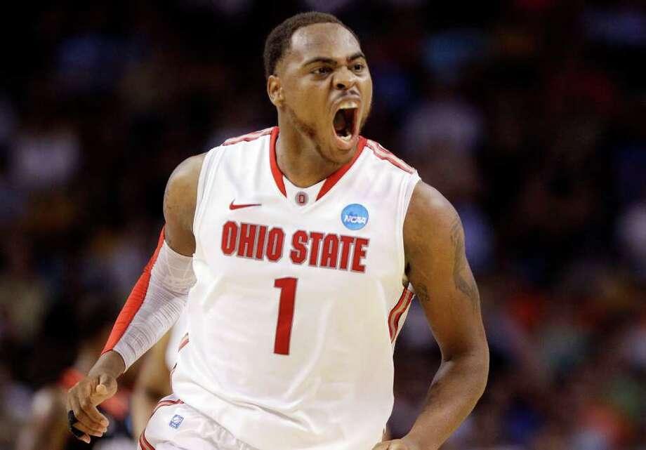 Ohio State forward Deshaun Thomas' 21.points per game in the tournament tops anyone in the Final Four. Photo: AP