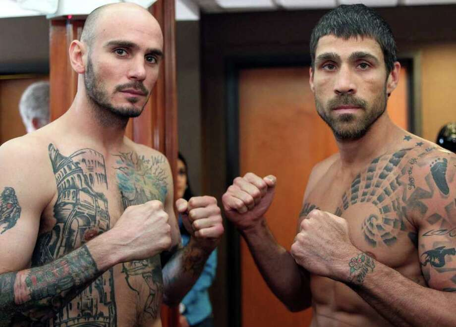Kelly Pavlik (pictured), former world champion from Youngstown, Ohio and Aaron Jaco of Sarasota, Fla weigh in for their upcoming fight on a Top Rank Live! boxing card. Photo by Chris Farina/Top Rank Photo: Chris Farina - Top Rank / Chris Farina 2012