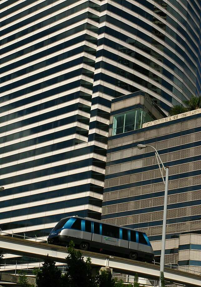 Miami, once known just for the famous beaches, has been evolving into a city of modern design and sophisticated arts scene. The monorail is an easy, cheap way to explore downtown. Photo: Spud Hilton, The Chronicle