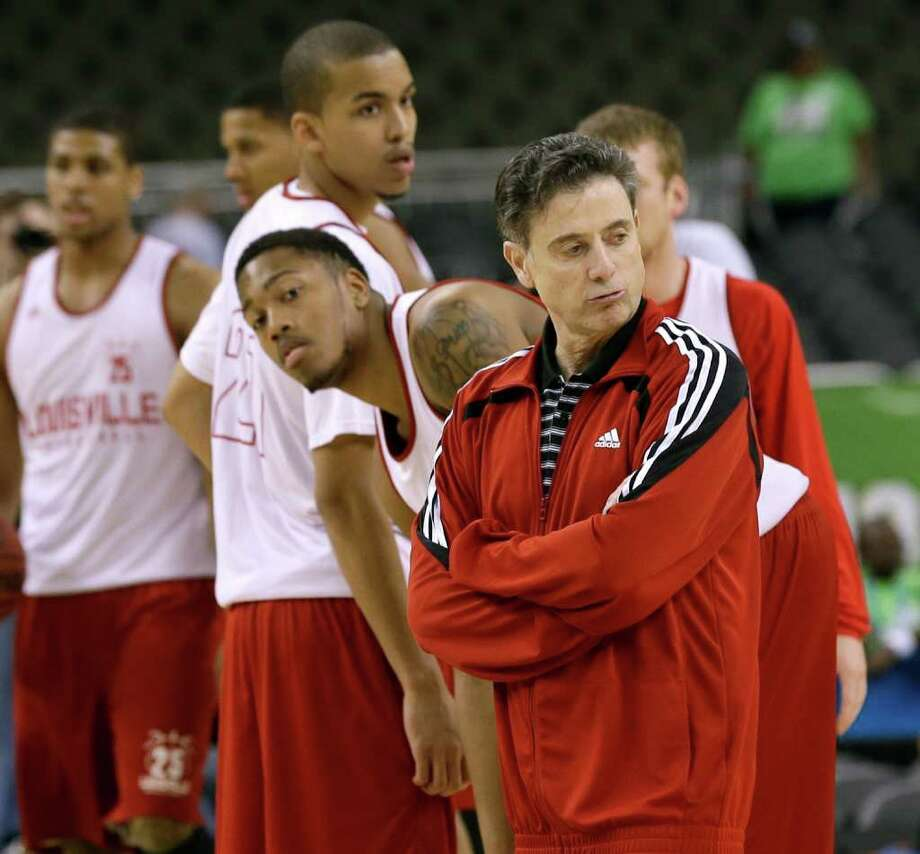 Louisville coach Rick Pitino has a unqiue part in the rivalry since he also used to coach Kentucky. Photo: AP