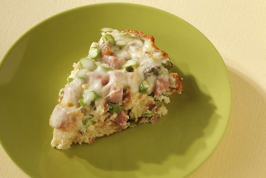 Asparagus & Ham Bread Pudding as seen in San Francisco on March 21, 2011. Food styled by Stephanie Kirkland. Photo: Craig Lee, Special To The Chronicle