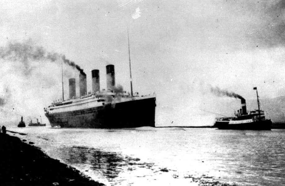 FILE - In this April 10, 1912 file photo, the Luxury liner Titanic departs Southampton, England, for her maiden Atlantic Ocean voyage to New York. An expedition team using sonar imaging and robots has created what is believed to be the first comprehensive map of the entire Titanic wreck site on the bottom of the North Atlantic Ocean.  The luxury passenger liner sank about 375 miles south of Newfoundland, Canada, after striking an iceberg on its maiden voyage from England to New York on April 15, 1912, killing more than 1,500 people.   (AP Photo, File) / AP1912