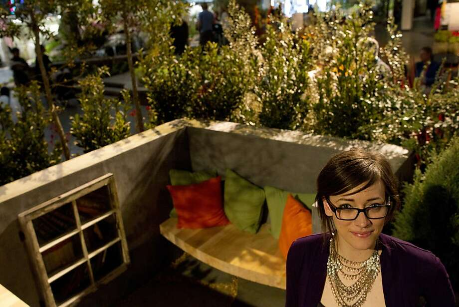 Award Winning Landscape Architect, Leslie McKenna, Stands In Her Landscape  Display At The San