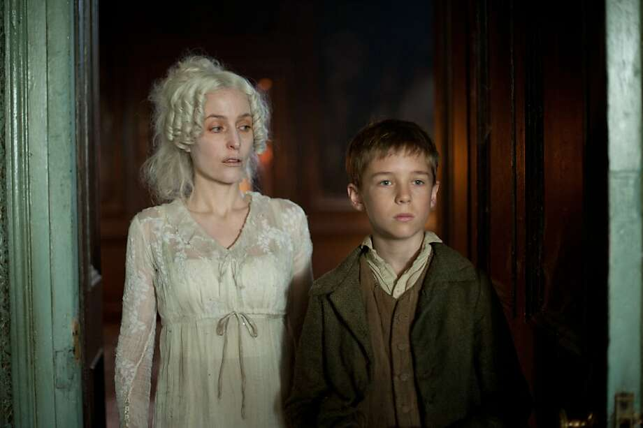 Great Expectations on MASTERPIECE Classic Sundays, April 1 & 8, 2012, at 9pm ET on PBS Gillian Anderson (Bleak House) and Douglas Booth star in Charles DickensÕ tale of an orphanÕs sudden expectations of wealth and true love. Complicating the picture are an escaped convict, a wily lawyer, a deranged rich woman, and a cold-hearted beauty. The timeless classic also stars David Suchet (Poirot), Ray Winstone (Sexy Beast), and Vanessa Kirby (The Hour). Photo: Nicola Dove, BBC For MASTERPIECE