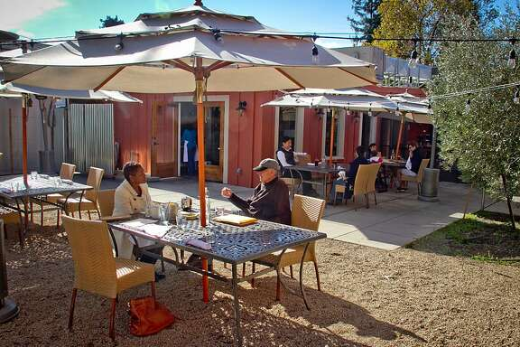 The patio at Mateo's Cocina Latina in Healdsburg, Calif.