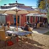 The patio at Mateo's Cocina Latina in Healdsburg, Calif.