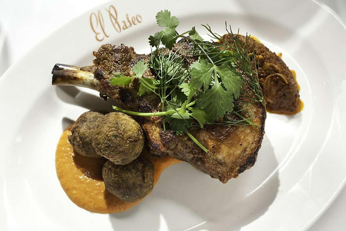 Pork chop at El Paseo restaurant in Mill Valley, California, on May 20, 2011.