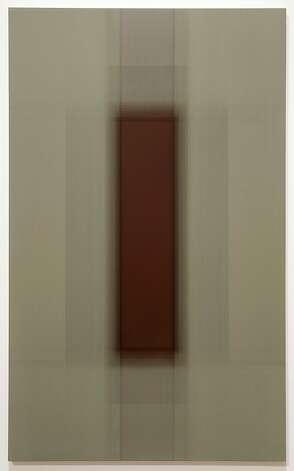 """Untitled (Moss/Maroon)"" (2012) acrylic on panel by Patsy Krebs Photo: Unknown"