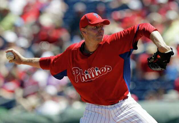 With Roy Halladay leading the way, the Phillies again have one of the best starting rotations in the majors. Photo: AP