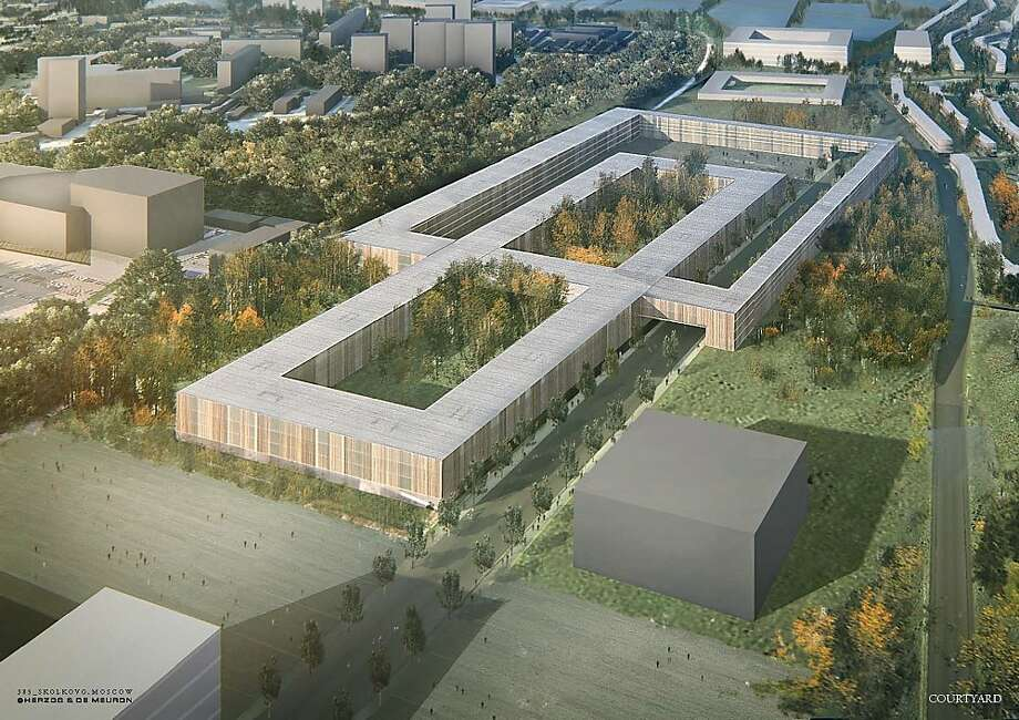 An architectural rendering shows the Skolkovo Innovation Center planned for construction near Moscow. Photo: Skolkovo Innovation Center
