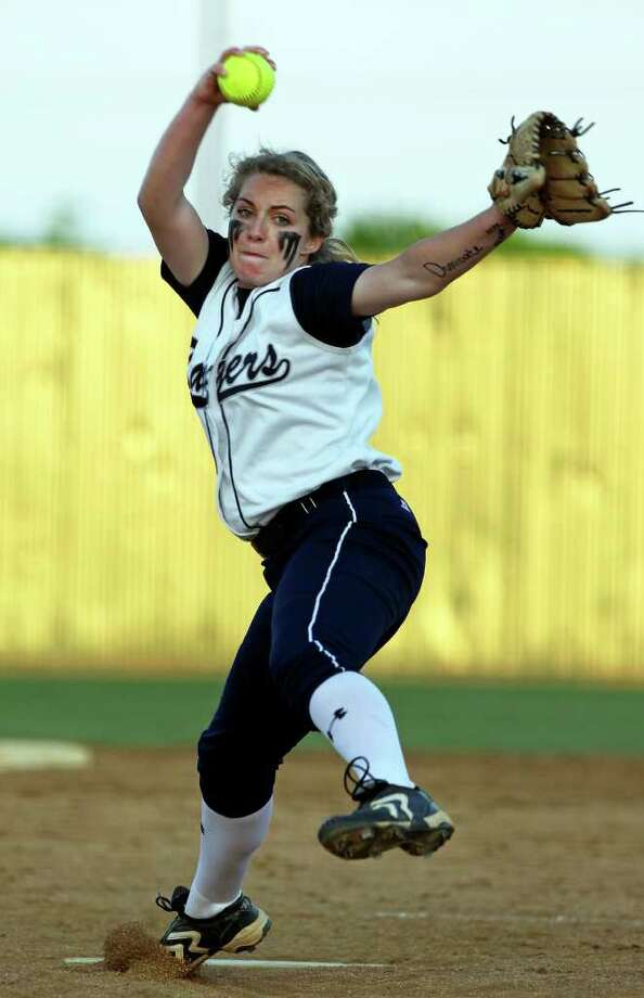 Regan Mergele gets the start for the Rangers as Canyon host Smithson Valley in softball on March 30, 2012.  Tom Reel/ San Antonio Express-News Photo: TOM REEL, Express-News / San Antonio Express-News