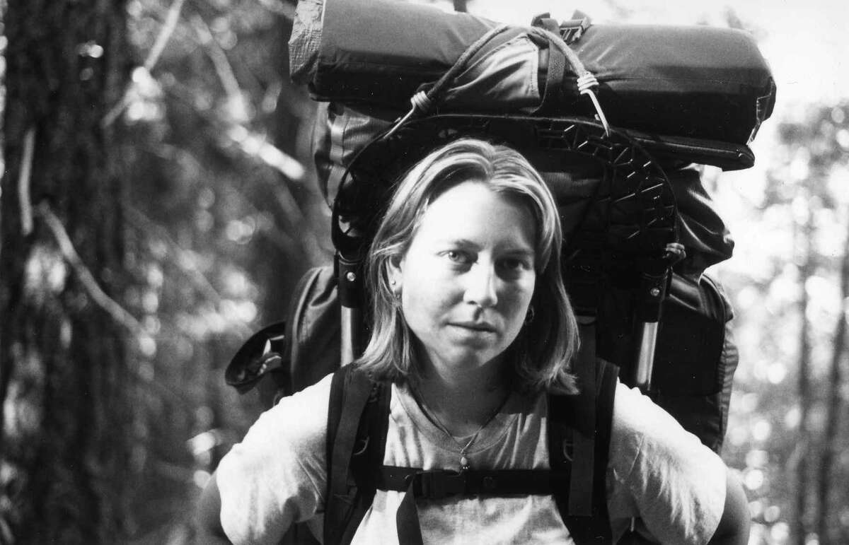 """Cheryl Strayed, whose memoir """"Wild"""" was recently made into a film starring Reese Witherspoon, ten days into the Pacific Crest Trail in June 1995."""
