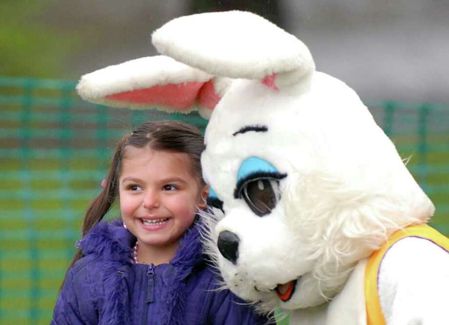 The Easter Bunny is available to take photos with little ones through April 19 in Grand Court at Stamford Town Center. Hours are:     Monday - Saturday: 10:00 a.m. to 9:00 p.m.  Sunday: 11:00 a.m. to 6:00 p.m. Find out more. Photo: Bob Luckey / Greenwich Time