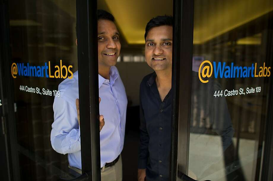 Venky Harinarayan, left, and Anand Rajaraman, both senior vice presidents of Global eCommerce for Wal- Mart Stores Inc.'s @WalmartLabs, stand for a photograph at the company's headquarters in Mountain View, California, U.S., on Friday, Sept. 2, 2011. As customers flock to social media sites, Wal- Mart Stores Inc. uses new software called Hadoop that analyzes information and can help companies figure out what consumers want. Photographer: David Paul Morris/Bloomberg *** Local Caption *** Venky Harinarayan;Anand Rajaraman Photo: David Paul Morris, Bloomberg