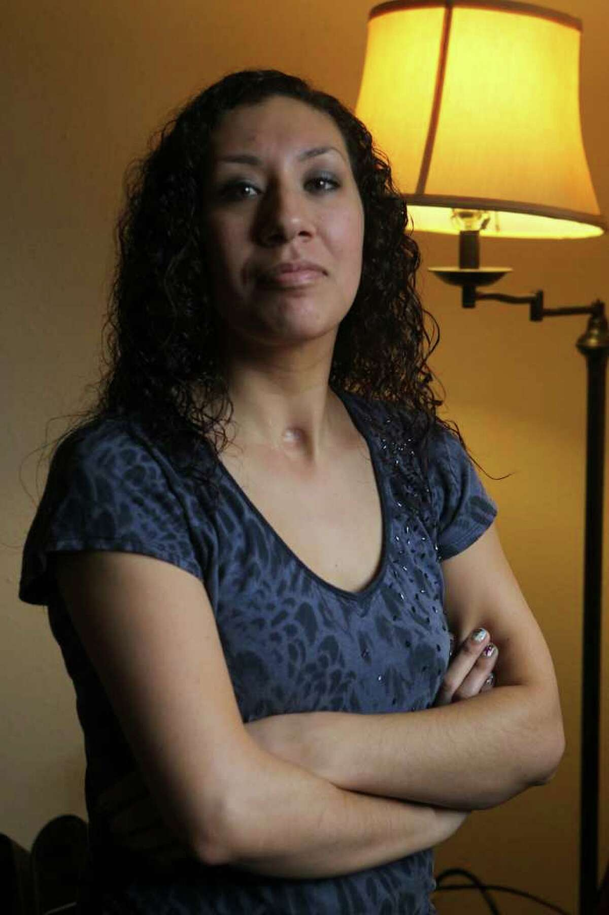 Vanessa Samudio was hit by a San Antonio police cruiser a few years ago and suffered brain damage as a result.