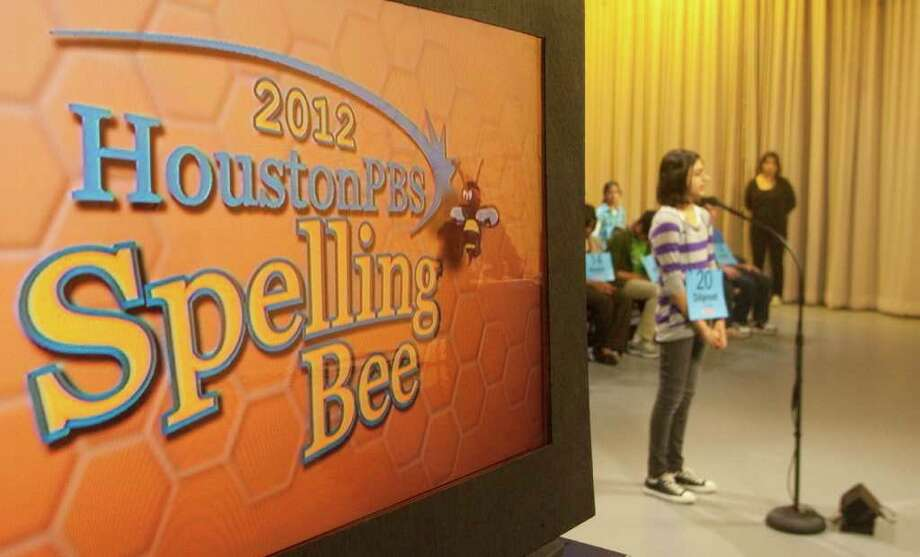 Dilpreet Gill, 12, from Harmony Science Academy competes in the 2012 Houston PBS Spelling Bee on Saturday March 31, 2012 in Houston, TX. The top 55 spellers from 1,040 schools in 42 counties competed at the Melcher Center for Public Broadcasting at the University of Houston main campus to win the opportunity to participate in the Scripps National Spelling Bee in Washington D.C. from May 27 to June 1. Photo: J. Patric Schneider, For The Chronicle / Houston Chronicle