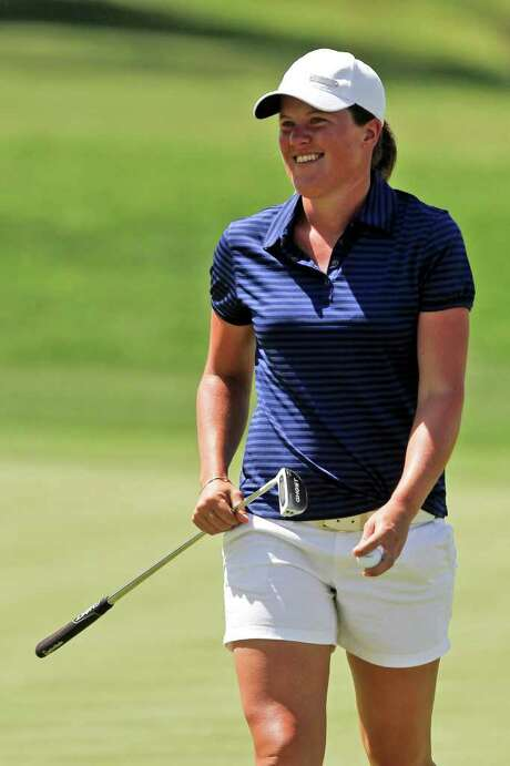 Karin Sjodin of Sweden caught Yani Tseng atop the Kraft Nabisco leaderboard with a third-round 68. Photo: AP
