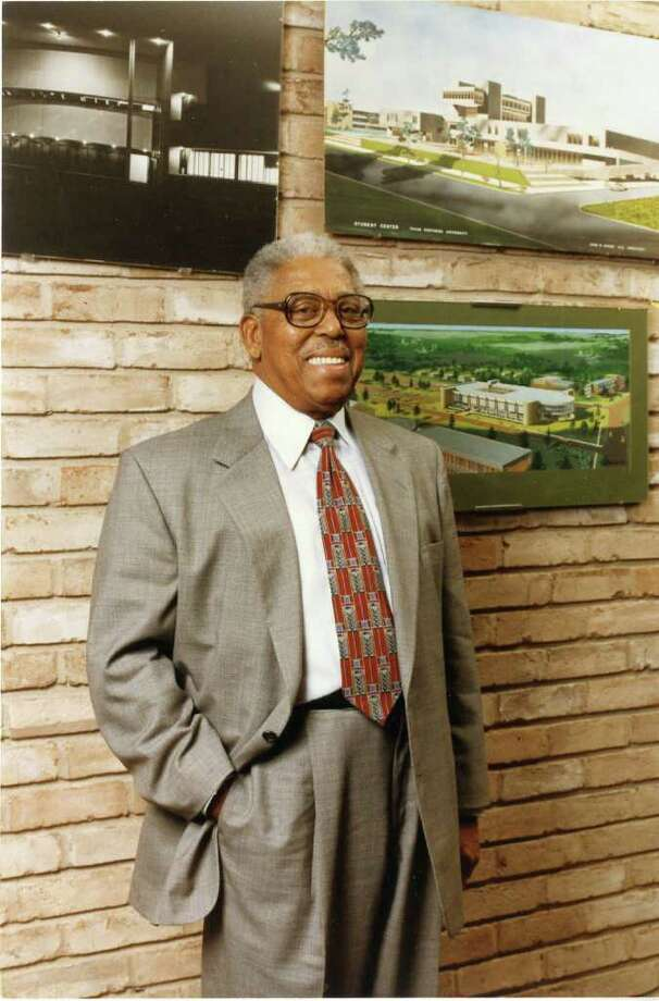 John S. Chase, seen in 1998, was the first licensed black architect in Texas and a political power broker. Photo: Houston Chronicle Photo Library