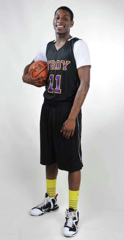 Basketball all-star Trahmier Burrell of Troy High School March 21, 2012 in Colonie, N.Y.  (Lori Van Buren / Times Union) Photo: Lori Van Buren