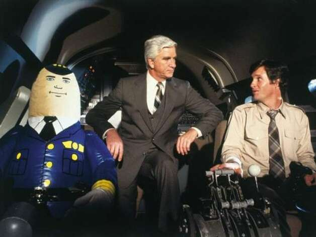 """'Airplane!' and """"Airplane II: The Sequel"""" - In this classic, joke-a-second parody of disaster movies, traumatized former combat pilot Ted Striker, an airplane passenger, is forced to land the plane when food poisoning strikes the crew and there's no one else on board who can do the job. Available: Feb. 1"""